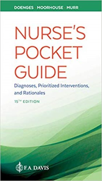 Nurses Pocket Guide: Diagnoses, Prioritized Interventions, and Rationales. Text with Access Code Cover Image