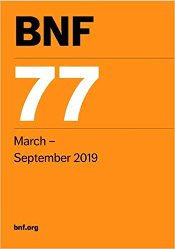 British National Formulary (BNF) 77. March - September 2019 Cover Image