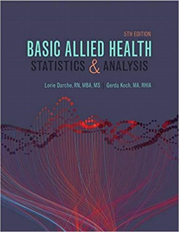 Basic Allied Health: Statistics and Analysis Cover Image