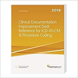 Clinical Documentation Improvement Desk Reference for ICD-10-CM and Procedure Coding. Includes Clinicians Checklist for ICD-10-CM Brochure Cover Image