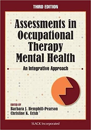 Assessments in Occupational Therapy Mental Health: An Integrative Approach Cover Image