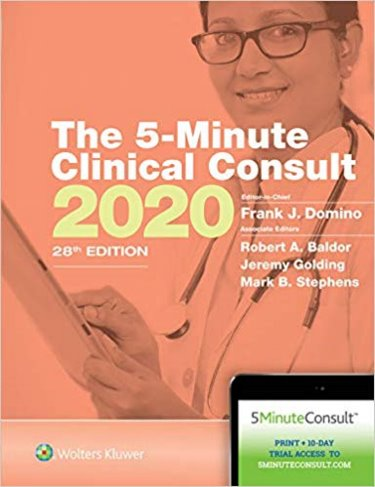 Five Minute Clinical Consult 2020. Text with Access Code for 10-Day Free Trial Cover Image