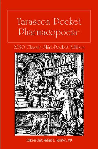 Tarascon Pocket Pharmacopoeia. Classic Shirt Pocket Edition 2020 Cover Image