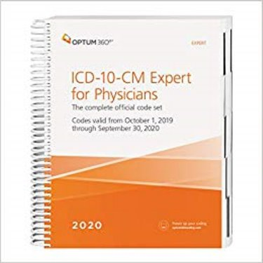 2020 ICD-10-CM Expert for Physicians: The Complete Official Code Set: Codes Valid from October 1, 2019 through September 30, 2020. Without Guidelines Cover Image
