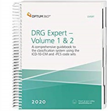 DRG Expert 2020: A Comprehensive Guidebook to the DRG Classification System. Using the ICD-10-CM and ICD-10-PCS Code Set. 2 Book Set Cover Image
