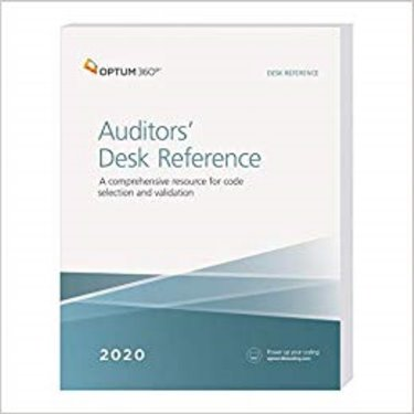 Auditors Desk Reference 2020: A Comprehensive Resource for Code Selection and Validation Cover Image
