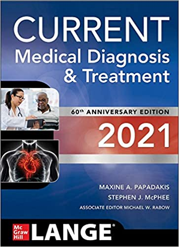 Current Medical Diagnosis and Treatment 2021. 60th Anniversary Edition Cover Image
