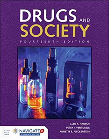 Drugs and Society. Text with Navigate Advantage Access Cover Image