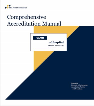 Comprehensive Accreditation Manual for Hospitals: CAMH 2021. Includes 3-Ring Binder Cover Image