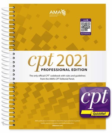 CPT 2021 Professional Codebook and CPT QuickRef App (QR Code) Cover Image