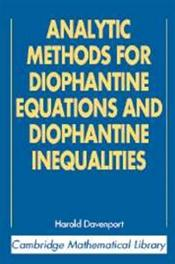 Analytic Methods for Diophantine Equations and Diophantine Inequalities Cover Image