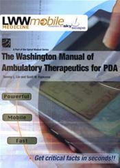 Washington Manual of Ambulatory Therapeutics PDA on CD-ROM for Palm OS and Pocket PC Image