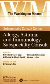 Washington Manual Allergy, Asthma, and Immunolgy Subspecialty Consult Image