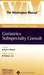Washington Manual Geriatrics Subspecialty Consult Image