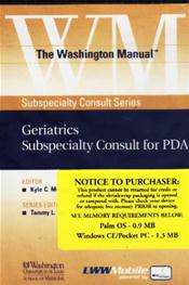Washington Manual Geriatrics Subspecialty Consult for PDA on CD-ROM for Palm OS, Windows CE and Pocket PC Image