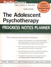 Adolescent Psychotherapy Progress Notes Planner Cover Image