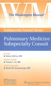 Washington Manual Pulmonary Medicine Subspecialty Consult Image