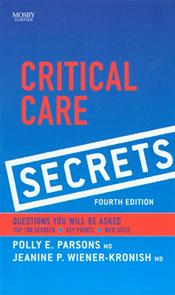 Critical Care Secrets Cover Image
