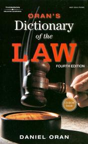 West Legal Studies: Oran's Dictionary of the Law. Text with CD-Rom for Windows