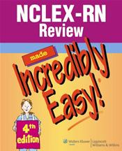 NCLEX-RN Review Made Incredibly Easy. Text with CD-ROM for Windows
