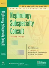 Washington Manual Nephrology Subspecialty Consult Image