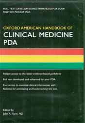 Oxford American Handbook of Clinical Medicine PDA on CD-ROM for Palm OS and Pocket PC