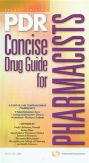 PDR Concise Drug Guide for Pharmacists