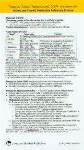 Tarascon Rapid Reference Card 2009: Asthma and Chronic Obstructive Pulmonary Disease Image