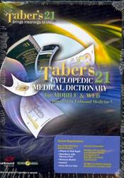 Taber's Cyclopedic Medical Dictionary for Mobile and Web on CD-ROM for Palm OS and Windows Mobile