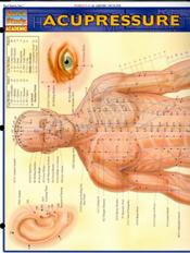 Acupressure Reference Chart. 11 X 24 Laminate Card