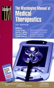 Washington Manual of Medical Therapeutics. Spiral Edition. Text with Internet Access Code