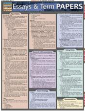 Essays &amp; Term Papers Laminated Reference Chart