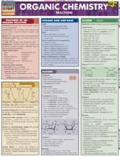 Organic Chemistry Reactions Laminated Reference Chart