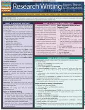 Research Writing: Papers, Theses and Dissertations Laminated Reference Chart