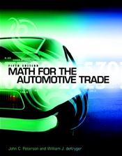 Math for the Automotive Trades