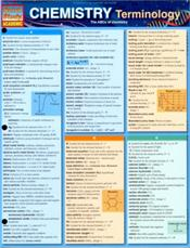 Chemistry Terminology Laminated Reference Chart