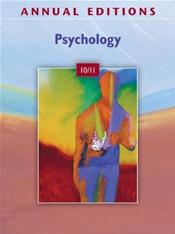 Annual Editions: Psychology 2010/2011 Cover Image
