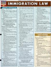 Immigration Law Laminated Reference Chart