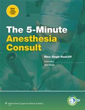 5-Minute Anesthesiology Consult. Text with Internet Access Code for Companion Website Cover Image