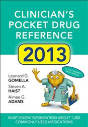 Clinician's Pocket Drug Reference 2013