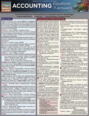 Accounting Equations & Answers Laminated Reference Chart