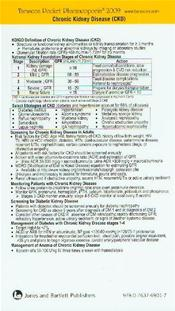 Tarascon Primary Care Pocketbook Card 2009: Chronic Kidney Disease (CKD). Revised Image