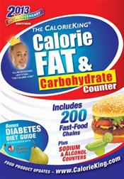 Calorie King: Calorie, Fat and Carbohydrate Counter 2013
