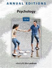 Annual Editions: Psychology 2013/2014 Cover Image