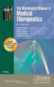 Washington Manual of Medical Therapeutics. Perfect Bound Edition. Text with Access Code Image