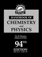 CRC Handbook of Chemistry and Physics: A Ready-Reference Book of Chemical and Physical Data. 100 Year Anniversary Edition
