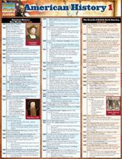American History 1 Laminated Reference Chart