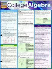 College Algebra Laminated Reference Chart