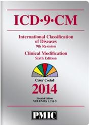 Coder's Choice ICD-9-CM 2014 Hospital Edition. Color Coded. Volumes 1, 2, and 3 in 1 Book