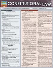 Constitutional Law Laminated Reference Chart
